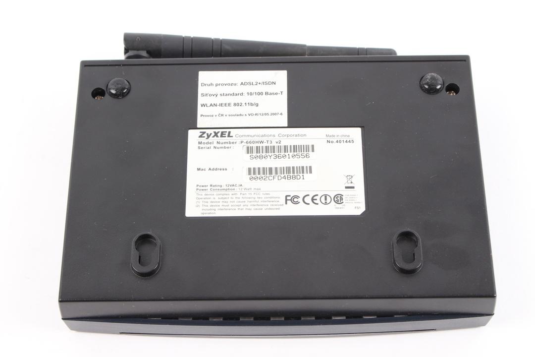 WiFi router Zyxel P-660HW-T3 v2