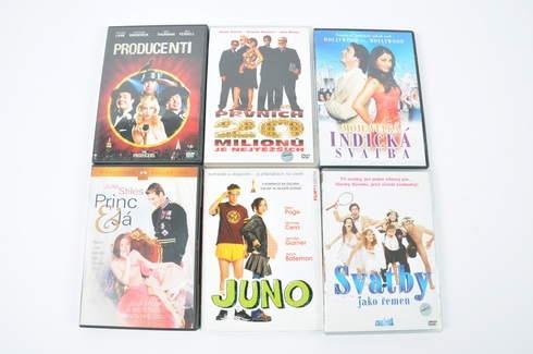 6x DVD - Juno, Princ a já a další