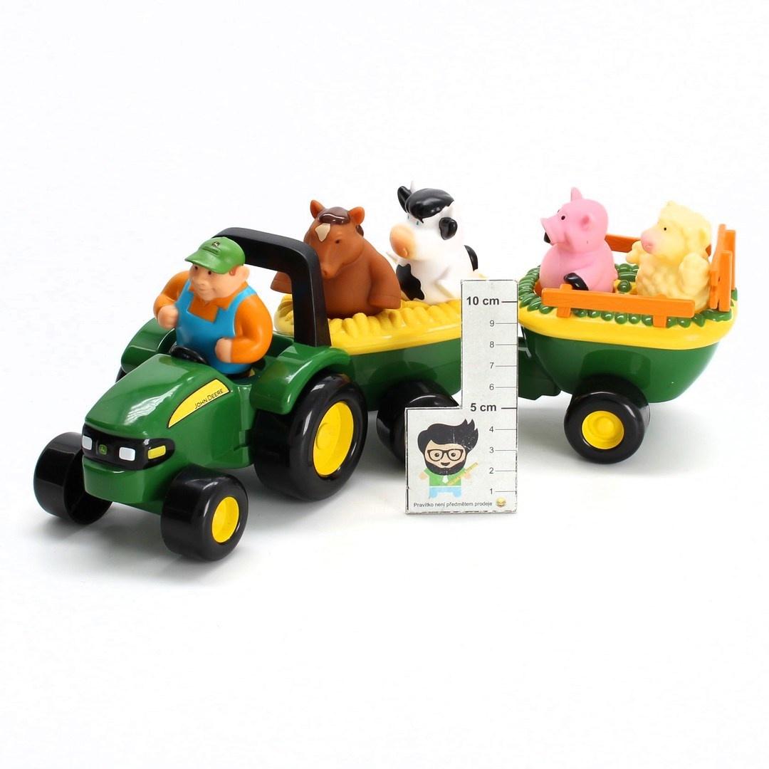 Traktor s přívěsem a zvířátky John Deere
