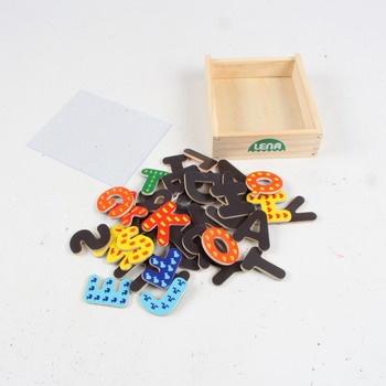 Magnetická písmena Lena s krabičkou