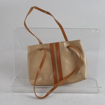 Dámská kabelka odstín béžové s pruhem