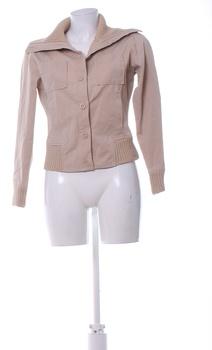 Dámská bunda s náplety Reserved béžová