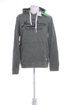 Pánská mikina Jack & Jones s kapucí šedá M