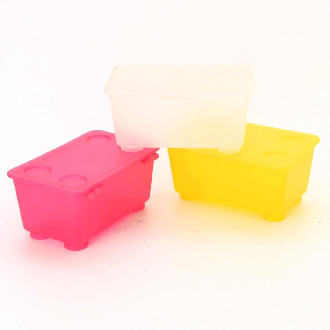 Plastové boxy 3 různé barvy
