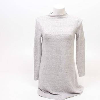 Dámské úpletové šaty Only dlouhý rukáv šedé