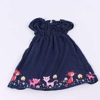 Dívčí šaty H&M odstín modré s kočičkami