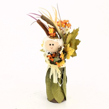 Podzimní barevná dekorace s panenkou