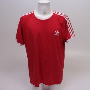 Pánské triko Adidas červené s proužky GLF66