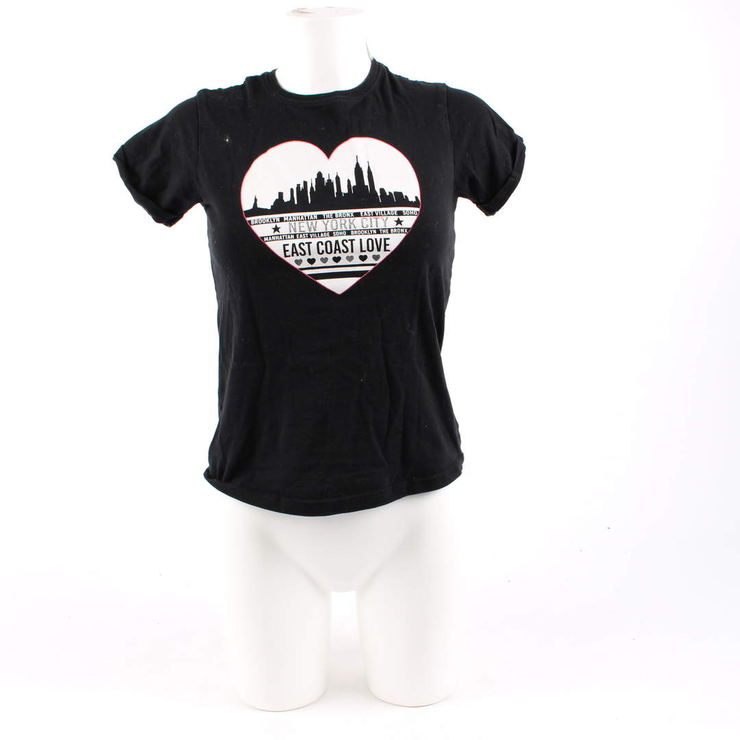 Dívčí tričko YD černé