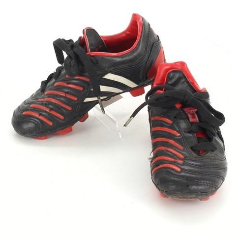 Dětské kopačky Adidas černočervené - bazar  b82a6f8adb