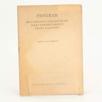 Brožura Program prvé vlády  Ministerstvo informací