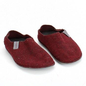 Domácí obuv Crocs 205837 vínová