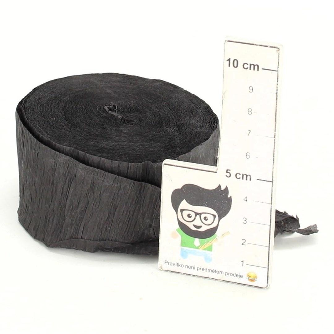 Krepový papír Unique černý