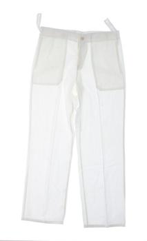 Dámské plátěné kalhoty bílé