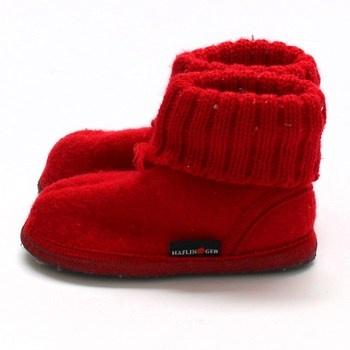 Dětské papuče Haflinger textilní
