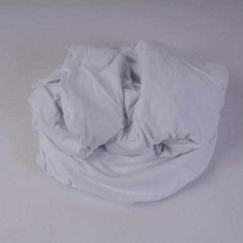 Napínací prostěradlo Biberna bílé 180 x 200