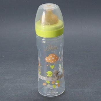 Kojenecká lahev Chicco ptáčci zelená