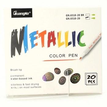 Metalické fixy Guangna Metallic Color Pen