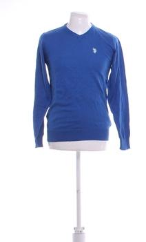 Pánský svetr U.S. Polo Assn. sv. modrý M
