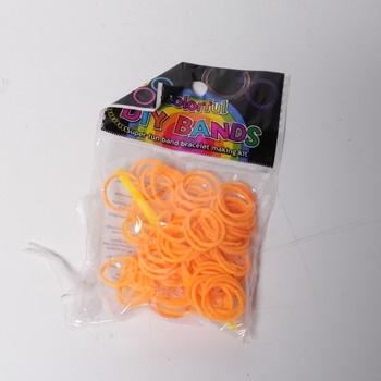 Gumičky Colorful na náramek oranžové