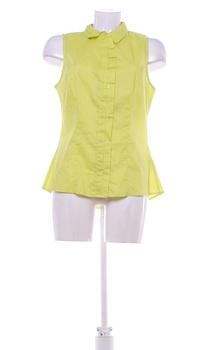 Dámský top s límečkem Fracomina žlutý