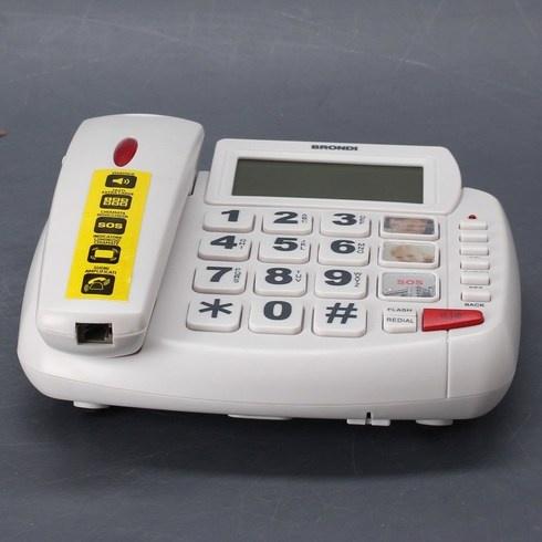 Pevný telefon Brondi Bravo 90 LCD bílý