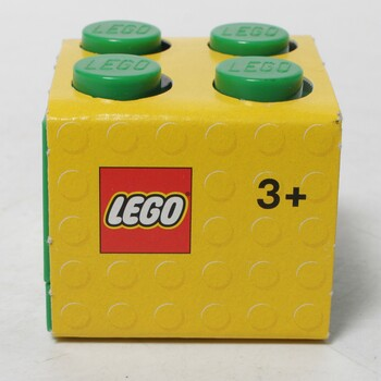 Mini úložný box Lego 4 tmavě zelený