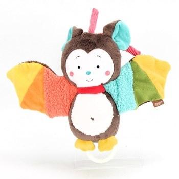 Plyšový netopýr s barevnými křídly Fehn