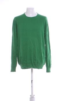 Pánský svetr ZARA MAN odstín zelené