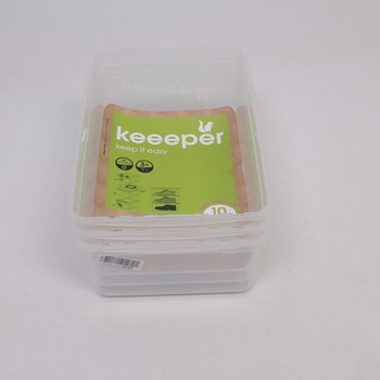 Plastové úložné boxy Keeper 3 ks