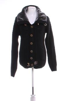 Pánský svetr s knoflíky Carisma černý L