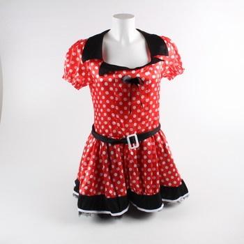 Dětské červené šaty s puntíky