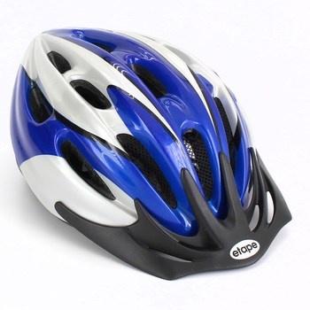 Cyklistická helma Etape modro-bílá