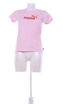 Dámské tričko Puma růžové s nápisem