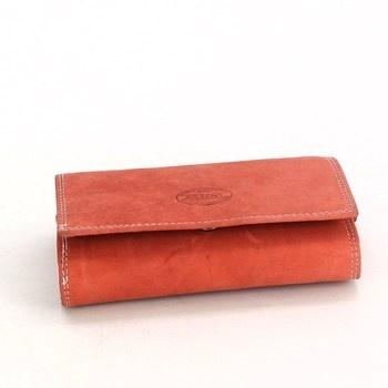 Kožená peněženka Akzent červená