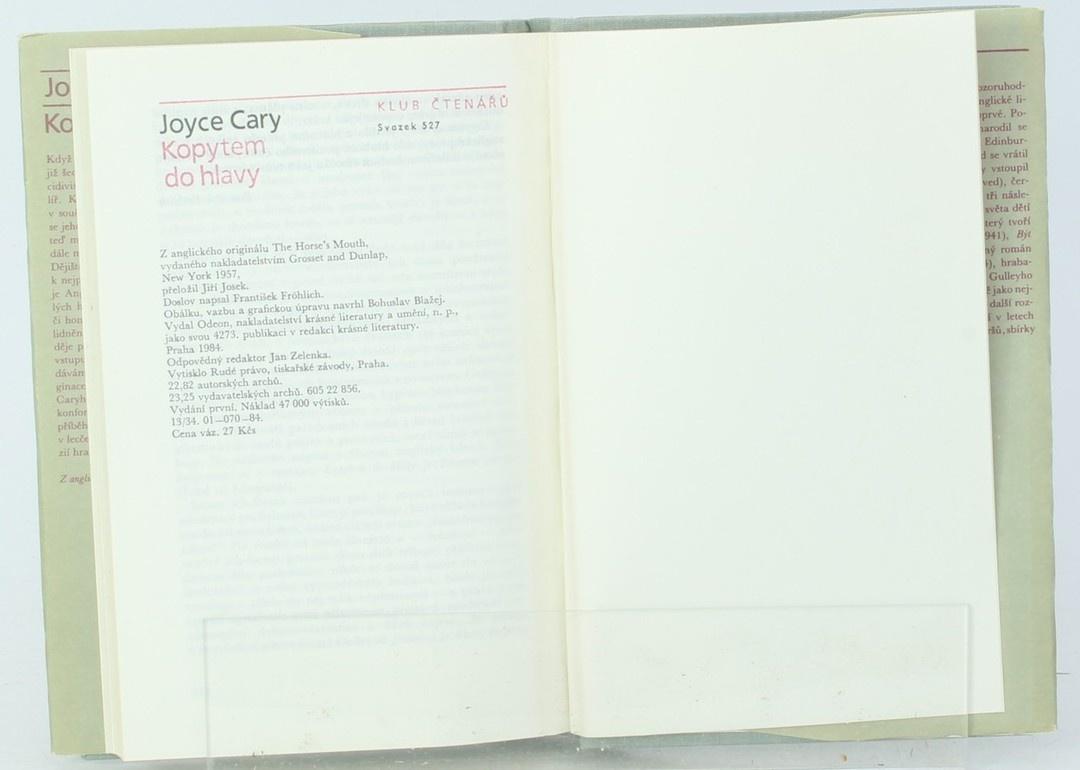 Kniha Odeon Joyce Cary: Kopytem do hlavy