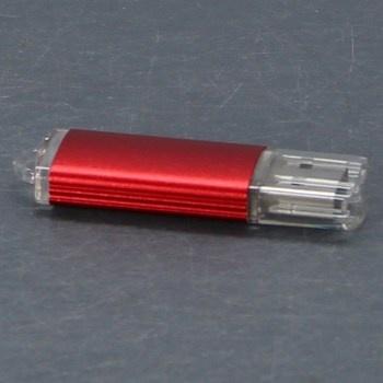 Flash disk USB 4 GB v červeném pouzdře