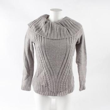 Dámský svetr s límcem Orsay šedý 7e09a21c80