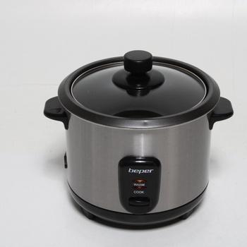 Rýžovar Beper 90.550, stříbrná/černá