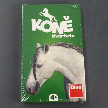 Karetní hra kvarteto DINO Koně