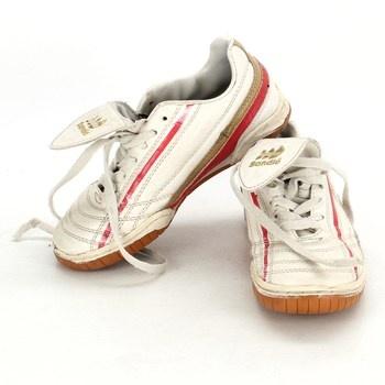 Dětská sálová obuv Sandic bílá červená
