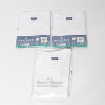 Pánské tričko Navigare bílé sada 3 ks