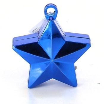 Dekorace modrá lesklá hvězda