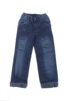 Dětské džíny Okay modré se záplatami