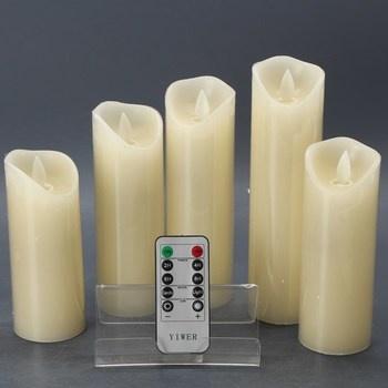 LED svíčky Yiwer s dálkovým ovladačem