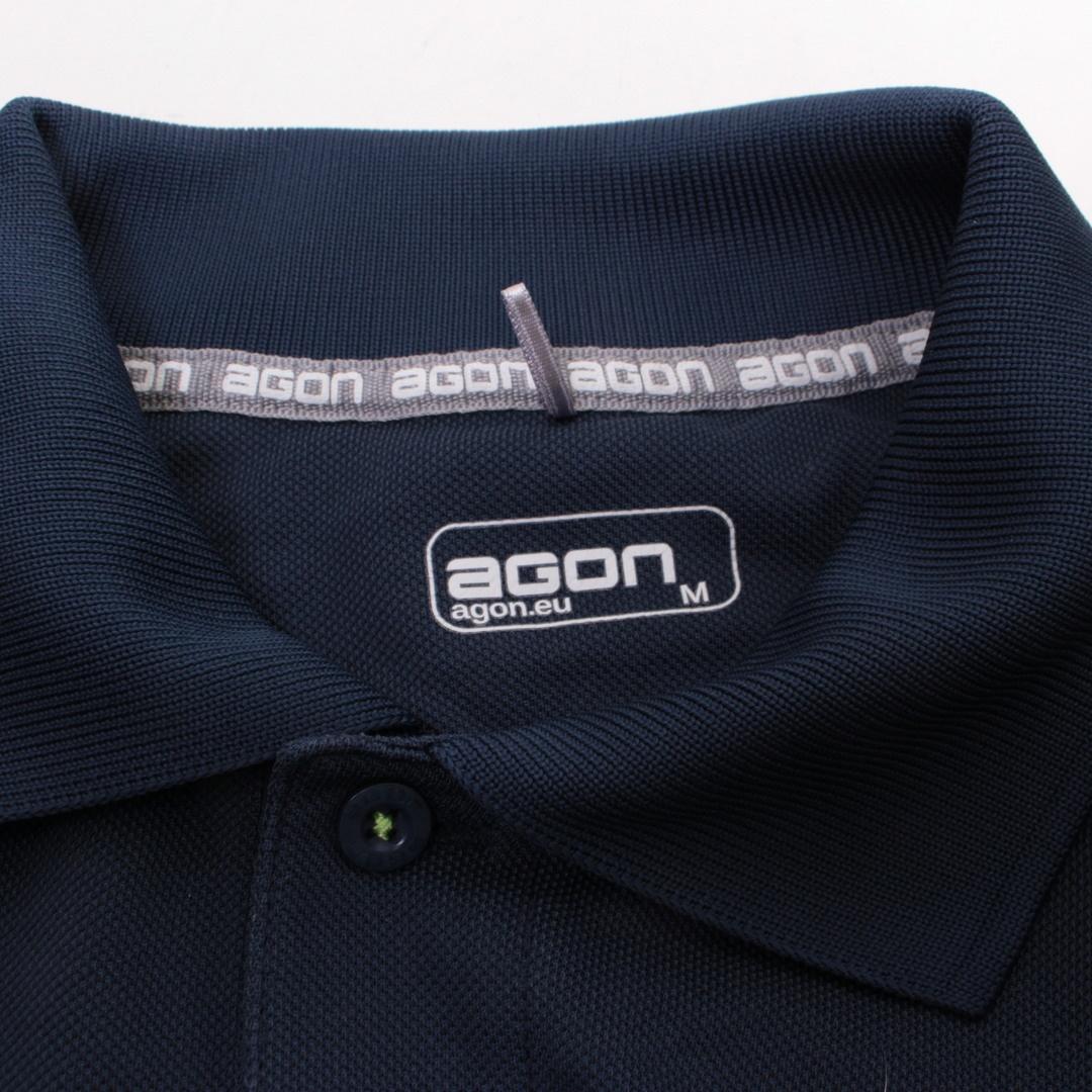Pánské tričko s límečkem Agon modré