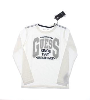Dětské tričko Guess s nápisem bílé