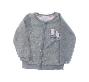 Dětská mikina Baby na zip šedá