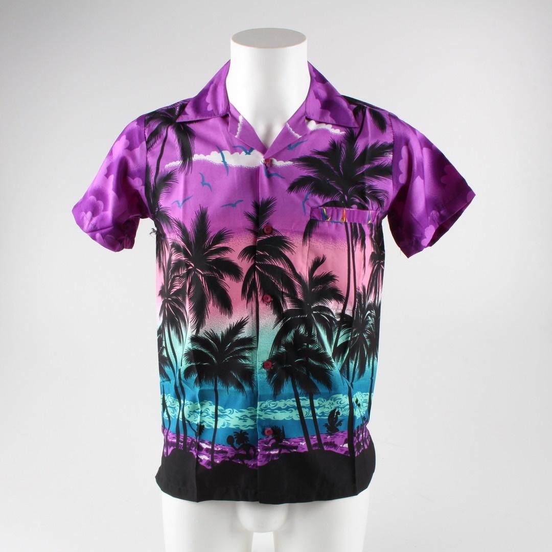 Pánská košile s motivem palmy