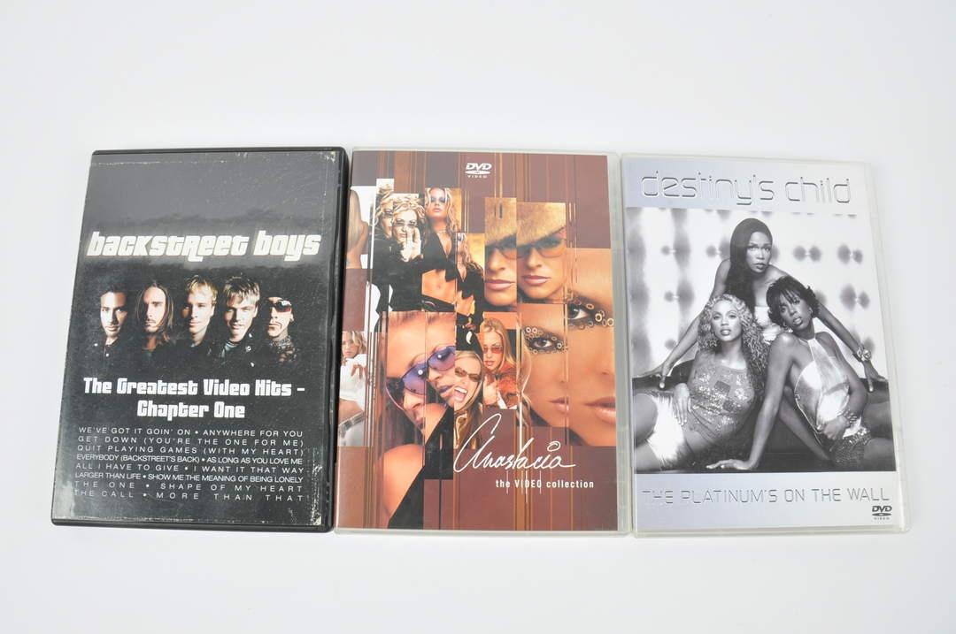 3x DVD - Destiny child, Anastacia a další
